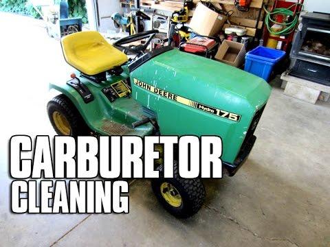 HOW-TO Carburetor Cleaning On John Deere 175 Tractor