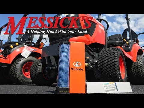 Secondary or Safety Air Filters on Kubota Engines. Specific to BX and Standard L-Series