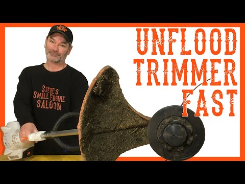 Quickly Unflood A Trimmer Using NO Tools - Video