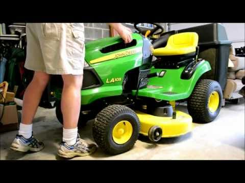 How To Change a Spark Plug on a John Deere LA 105 Lawn Tractor or Riding Mower