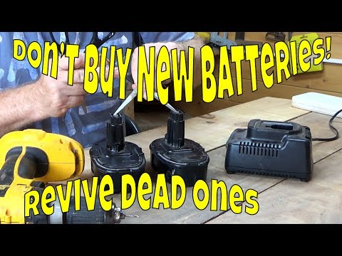How to revive a dead rechargeable power tool battery easily