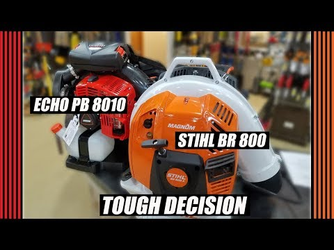 Stihl BR 800 VS ECHO PB 8010 Equipment Review