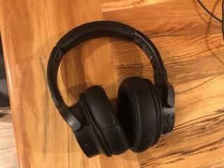 Wireless headphones provide tangle-free listening.