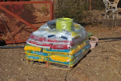Additional gardening supplies.