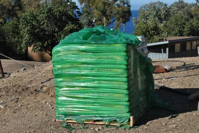 Pallet of compost for desert gardening project.