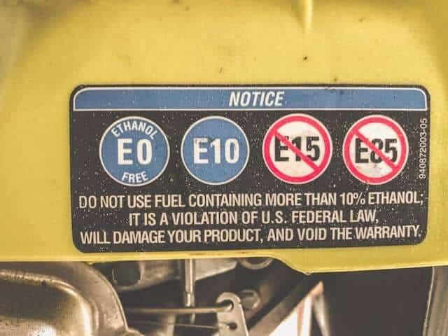 Ethanol damages small engines