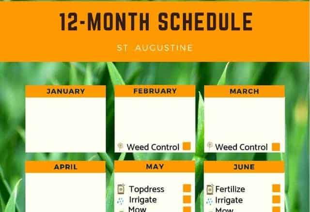 St. Augustine grass fertilizer schedule (PDF)