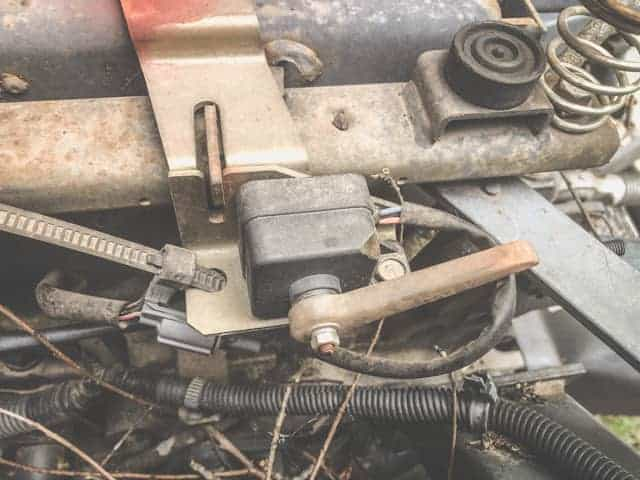Safety switch under seat malfunctioning can cause your tractor to click but not start.