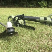 Green Machine carbon fiber string trimmer, blower, and chainsaw review.